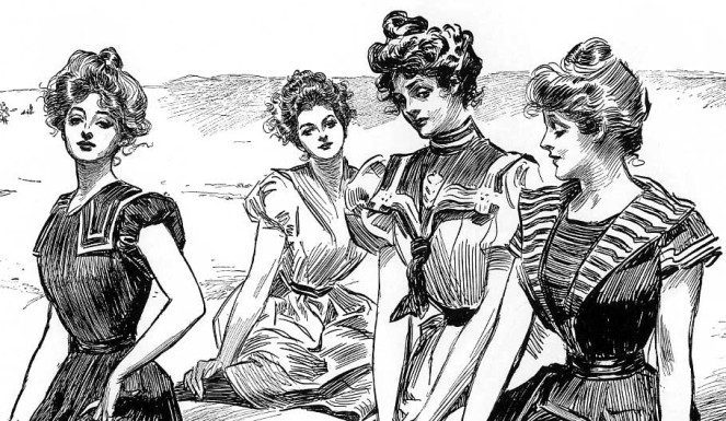 Gibson_Girls_seaside_-cropped-_by_Charles_Dana_Gibson